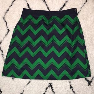 The Limited Chevron A-Line Skirt - Size Small